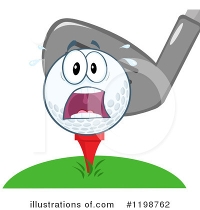 Golf Ball Clipart #1198762 by Hit Toon