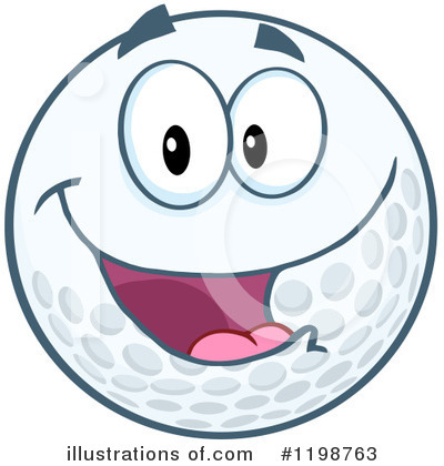 Golf Ball Clipart #1198763 by Hit Toon