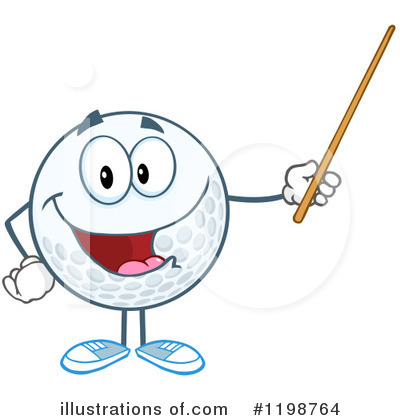 Golf Ball Clipart #1198764 by Hit Toon