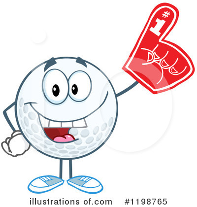 Royalty-Free (RF) Golf Ball Clipart Illustration by Hit Toon - Stock Sample #1198765