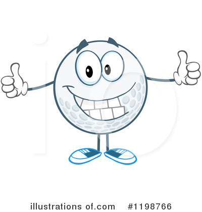 Golf Ball Clipart #1198766 by Hit Toon