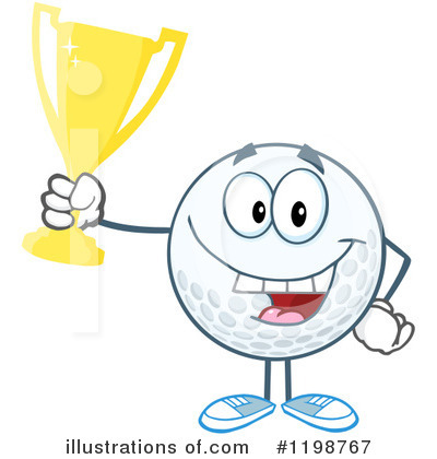 Golf Ball Clipart #1198767 by Hit Toon