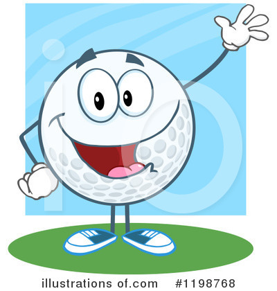 Royalty-Free (RF) Golf Ball Clipart Illustration by Hit Toon - Stock Sample #1198768