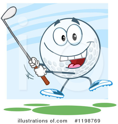 Golf Ball Clipart #1198769 by Hit Toon