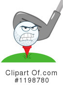 Golf Ball Clipart #1198780 by Hit Toon