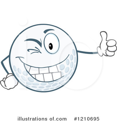 Golf Ball Clipart #1210695 by Hit Toon