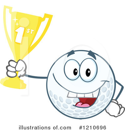 Golf Ball Clipart #1210696 by Hit Toon
