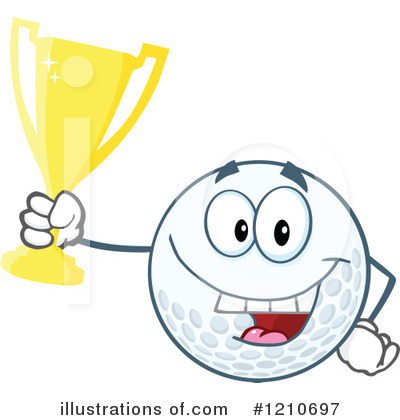 Golf Ball Clipart #1210697 by Hit Toon
