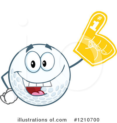 Golf Ball Clipart #1210700 by Hit Toon