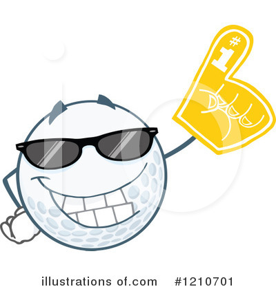 Golf Ball Clipart #1210701 by Hit Toon