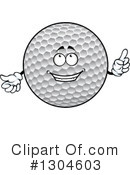 Golf Ball Clipart #1304603 by Vector Tradition SM
