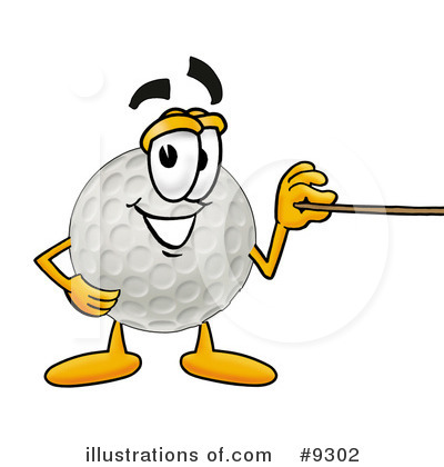 Golf Ball Clipart #9302 by Toons4Biz