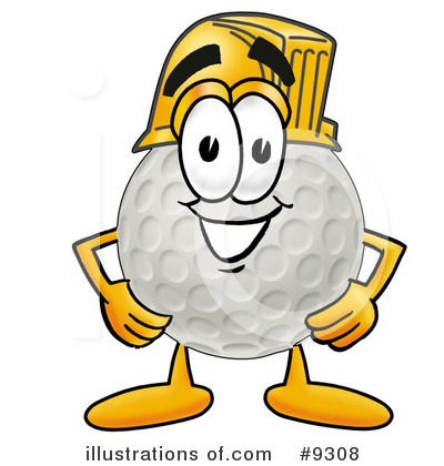 Golf Ball Clipart #9308 by Toons4Biz
