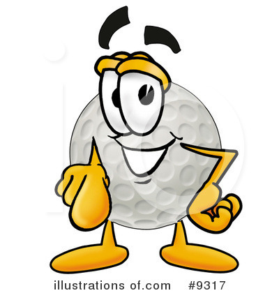 Golf Ball Clipart #9317 by Toons4Biz