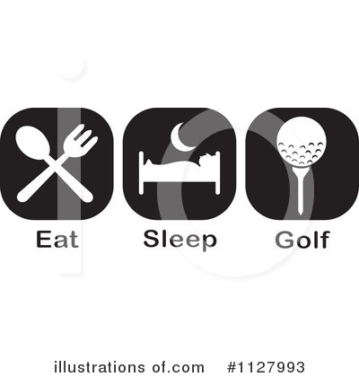 Golfing Clipart #1127993 by Johnny Sajem