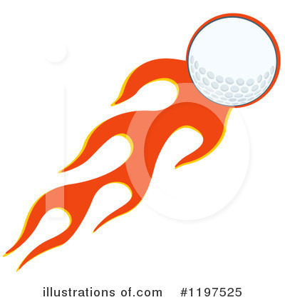 Golf Ball Clipart #1197525 by Hit Toon