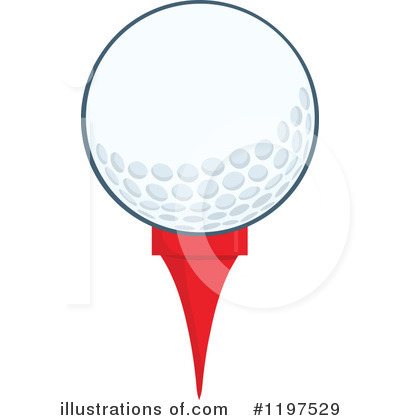 Golf Ball Clipart #1197529 by Hit Toon