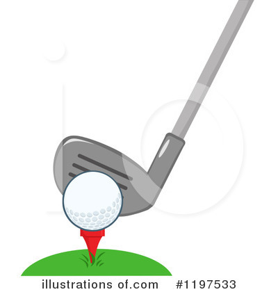 Golf Ball Clipart #1197533 by Hit Toon