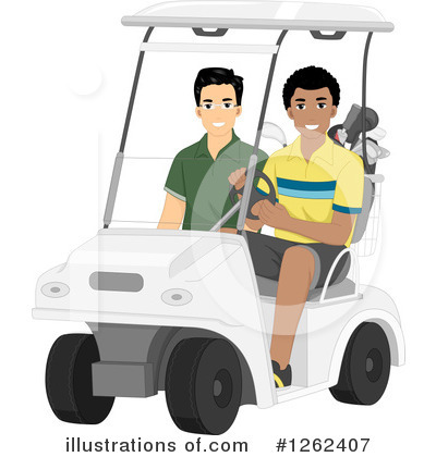 Golf Bag Clipart #1262407 by BNP Design Studio