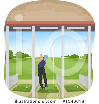 Golfing Clipart #1346618 by BNP Design Studio