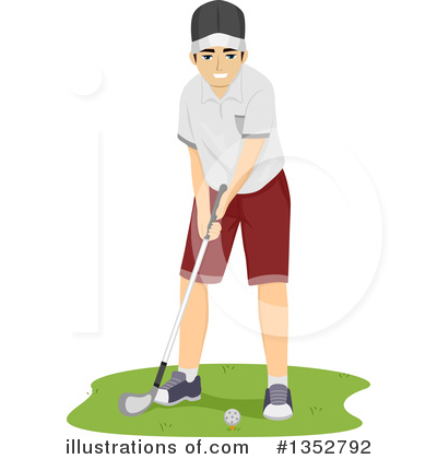 Golfing Clipart #1352792 by BNP Design Studio