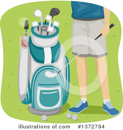 Golfing Clipart #1372794 by BNP Design Studio