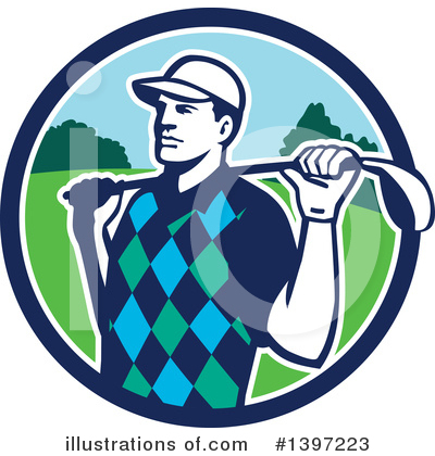 Royalty-Free (RF) Golf Clipart Illustration by patrimonio - Stock Sample #1397223