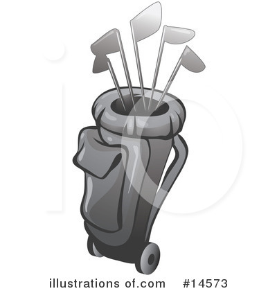 Golf Bag Clipart #14573 by Leo Blanchette