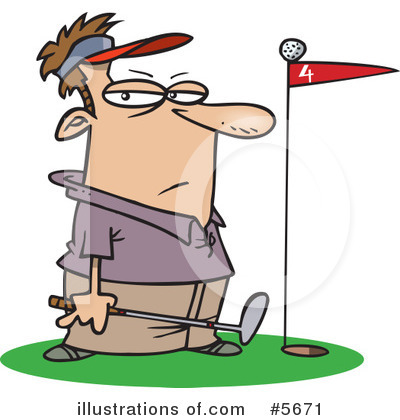Golfing Clipart #5671 by toonaday