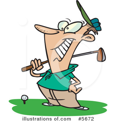 Golfing Clipart #5672 by toonaday