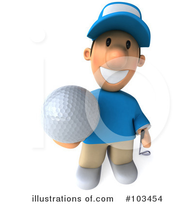 Golfer Toon Guy Clipart #103454 by Julos