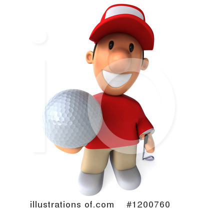 Golfer Toon Guy Clipart #1200760 by Julos