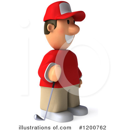 Golfer Toon Guy Clipart #1200762 by Julos