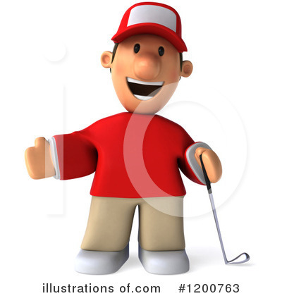 Golfer Toon Guy Clipart #1200763 by Julos
