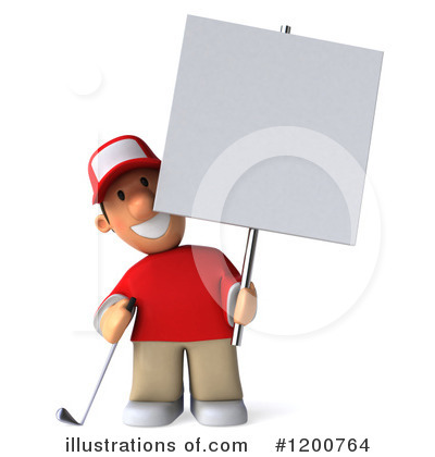 Golfer Toon Guy Clipart #1200764 by Julos