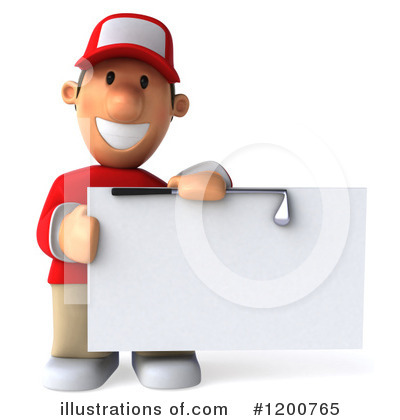 Golfer Toon Guy Clipart #1200765 by Julos
