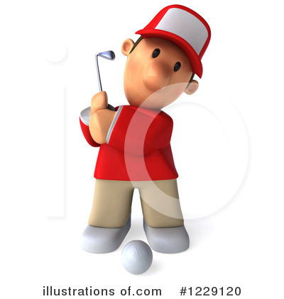 Golfer Toon Guy Clipart #1229120 by Julos