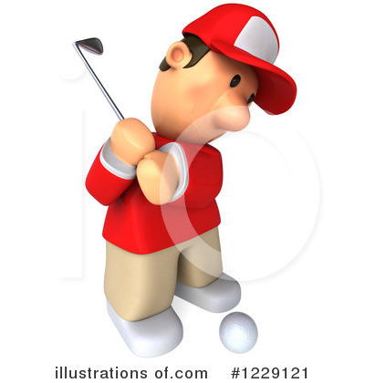 Golfer Toon Guy Clipart #1229121 by Julos