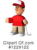 Golfer Clipart #1229122 by Julos