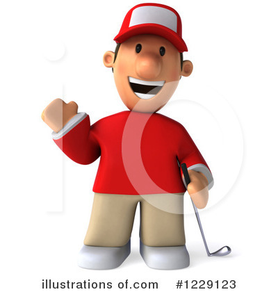 Golfer Toon Guy Clipart #1229123 by Julos