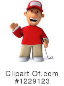 Golfer Clipart #1229123 by Julos