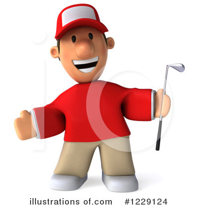 Golfer Toon Guy Clipart #1229124 by Julos