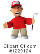 Golfer Clipart #1229124 by Julos