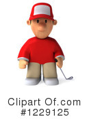 Golfer Clipart #1229125 by Julos