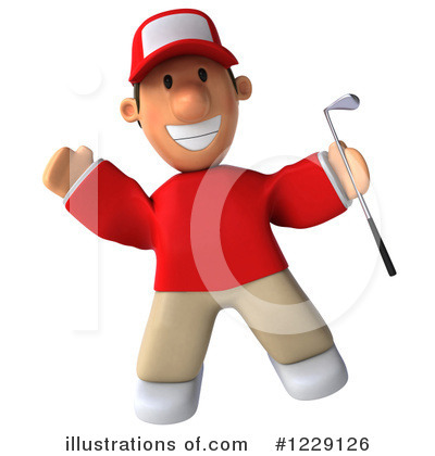 Golfer Toon Guy Clipart #1229126 by Julos