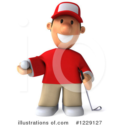 Golfer Toon Guy Clipart #1229127 by Julos