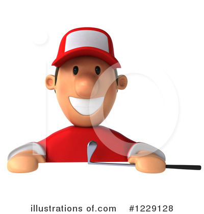 Golfer Toon Guy Clipart #1229128 by Julos
