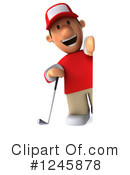 Golfer Clipart #1245878 by Julos