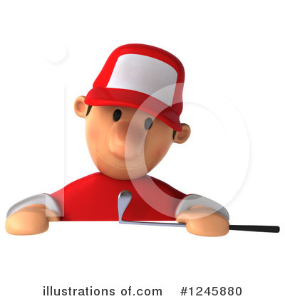 Golfer Toon Guy Clipart #1245880 by Julos