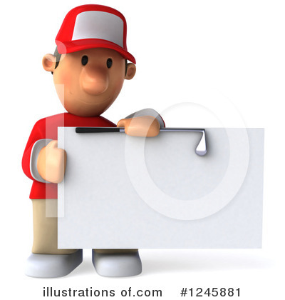 Golfer Toon Guy Clipart #1245881 by Julos